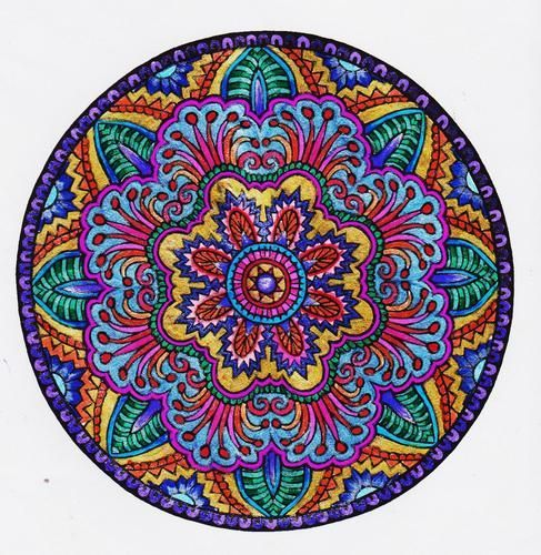 Colored Mandalas Google Search Desenho Colorir Pontilhismo