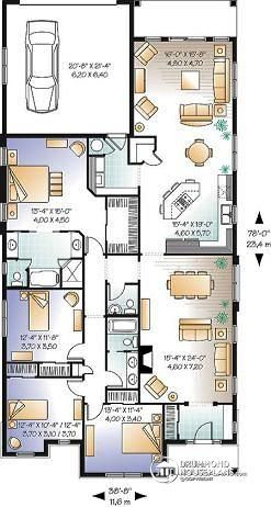 House Plan 4 2 W3250 Detail From