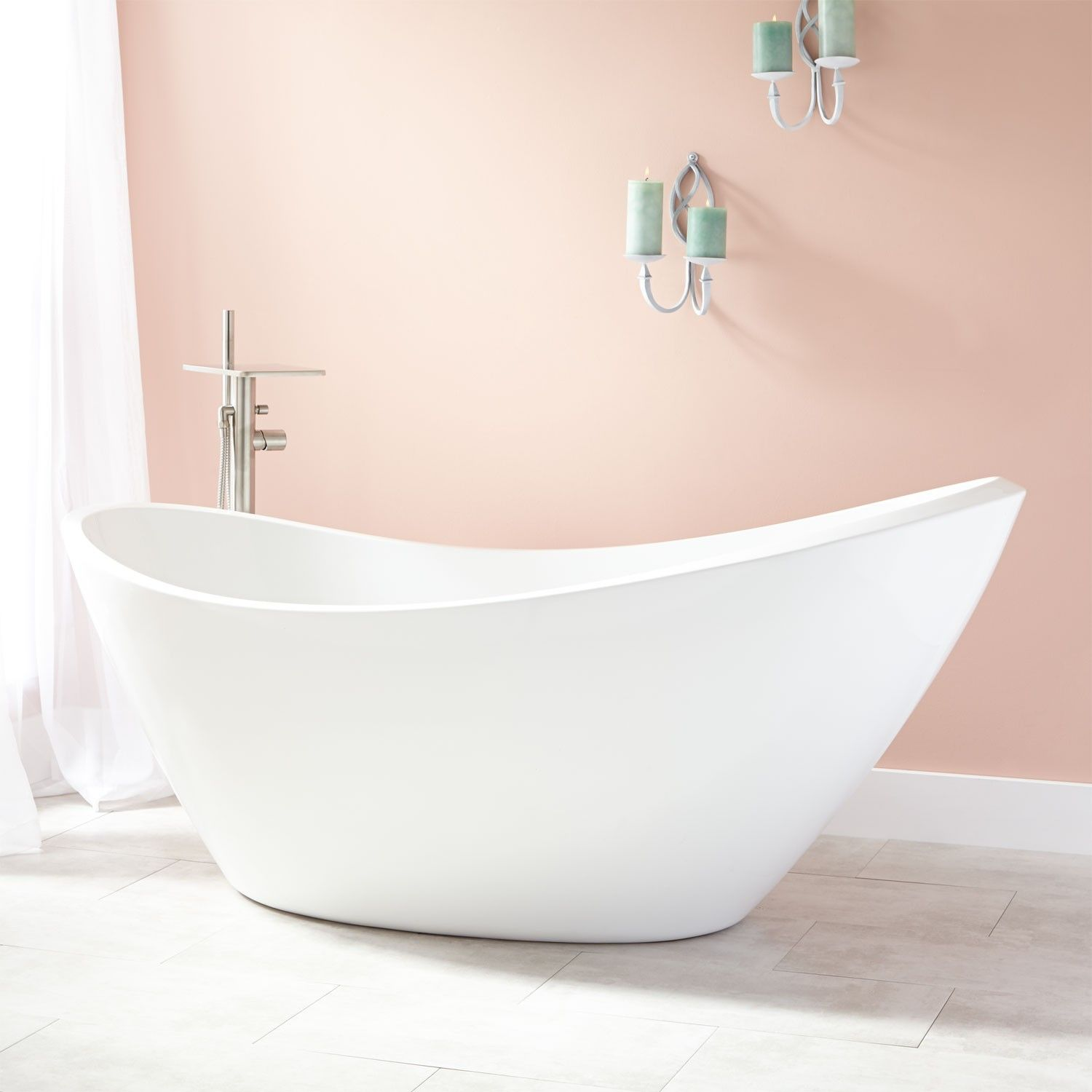 Urquhart Acrylic Freestanding Tub | Pinterest | Freestanding tub ...