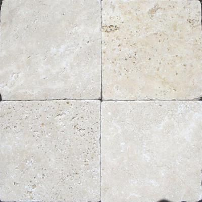 ms international chiaro 6 in x 6 in tumbled travertine floor and rh pinterest com