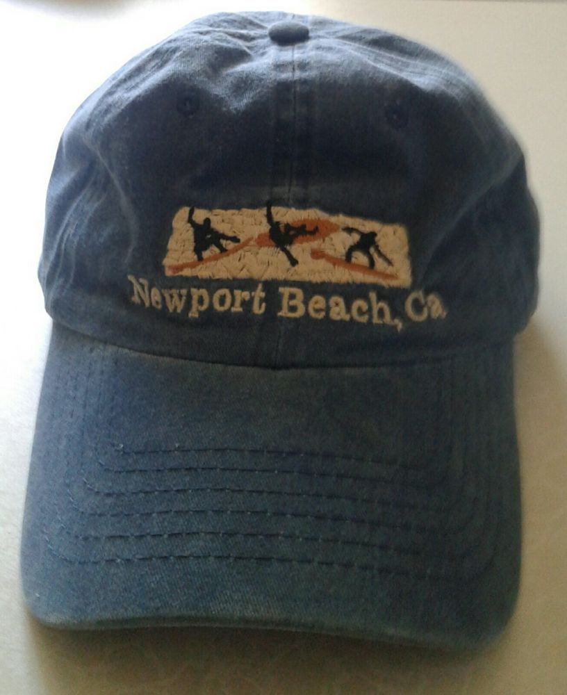 ad247a98803 Newport Beach CA Baseball Cap Embroidered Surfers Faded Blue Flexible  Strapback  fashion  clothing  shoes  accessories  mensaccessories  hats  (ebay link)