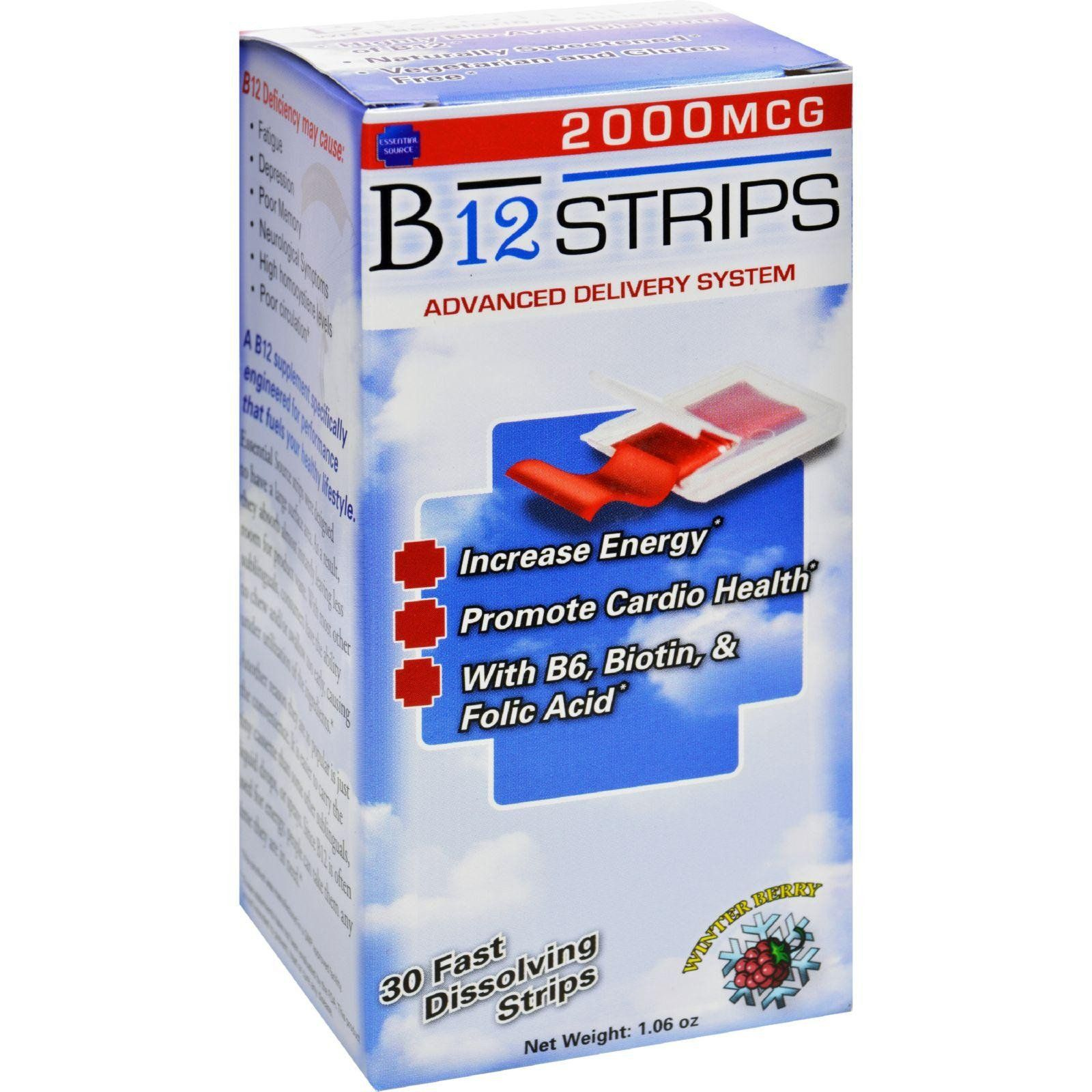Essential Source B12 Strips With B6 And Biotin 30 Pack