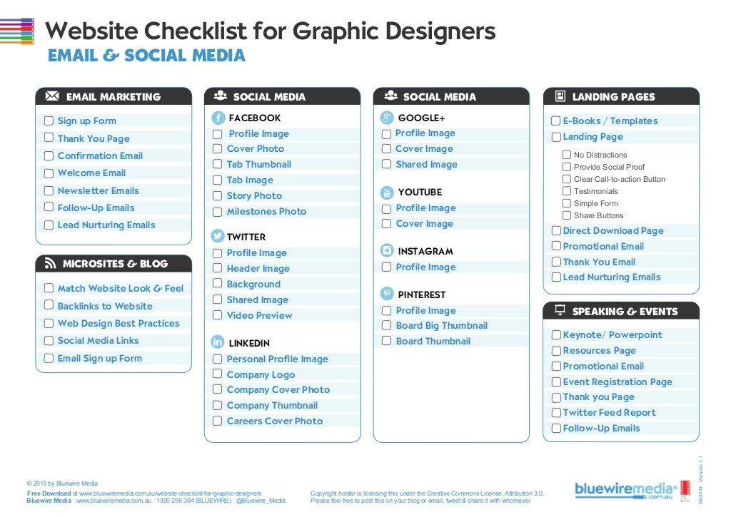 Website Checklist for Graphic Designers - DealFuel web design - creating checklist