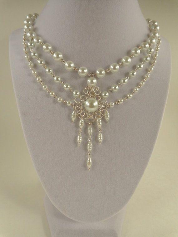 87be8666f710 Collar nupcial collar de perlas por IrisJewelryCreations en Etsy ...