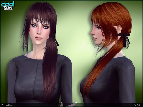 Rocha hair by Anto at TSR • Sims 4 Updates Sims, Cheveux