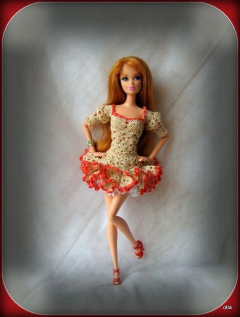Pin von ilona schmitt auf barbiekleider | Pinterest | Häkelmuster ...