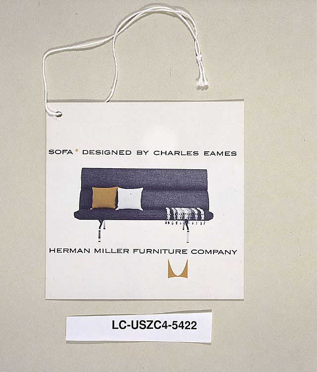 Good Eames Compact Sofa Hang Tag Furniture   The Work Of Charles And Ray Eames: A