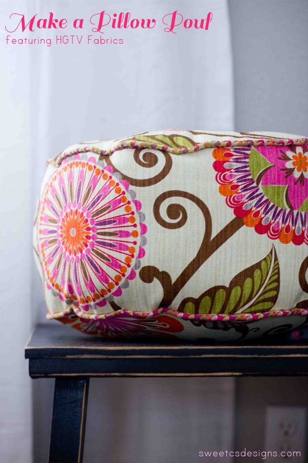 Lattiatyyny, jonka olen aina halunnut tehdä lapsille. Pyöreä tyyny / make a pillow pouf! It is incredibly easy, takes about 30 minutes