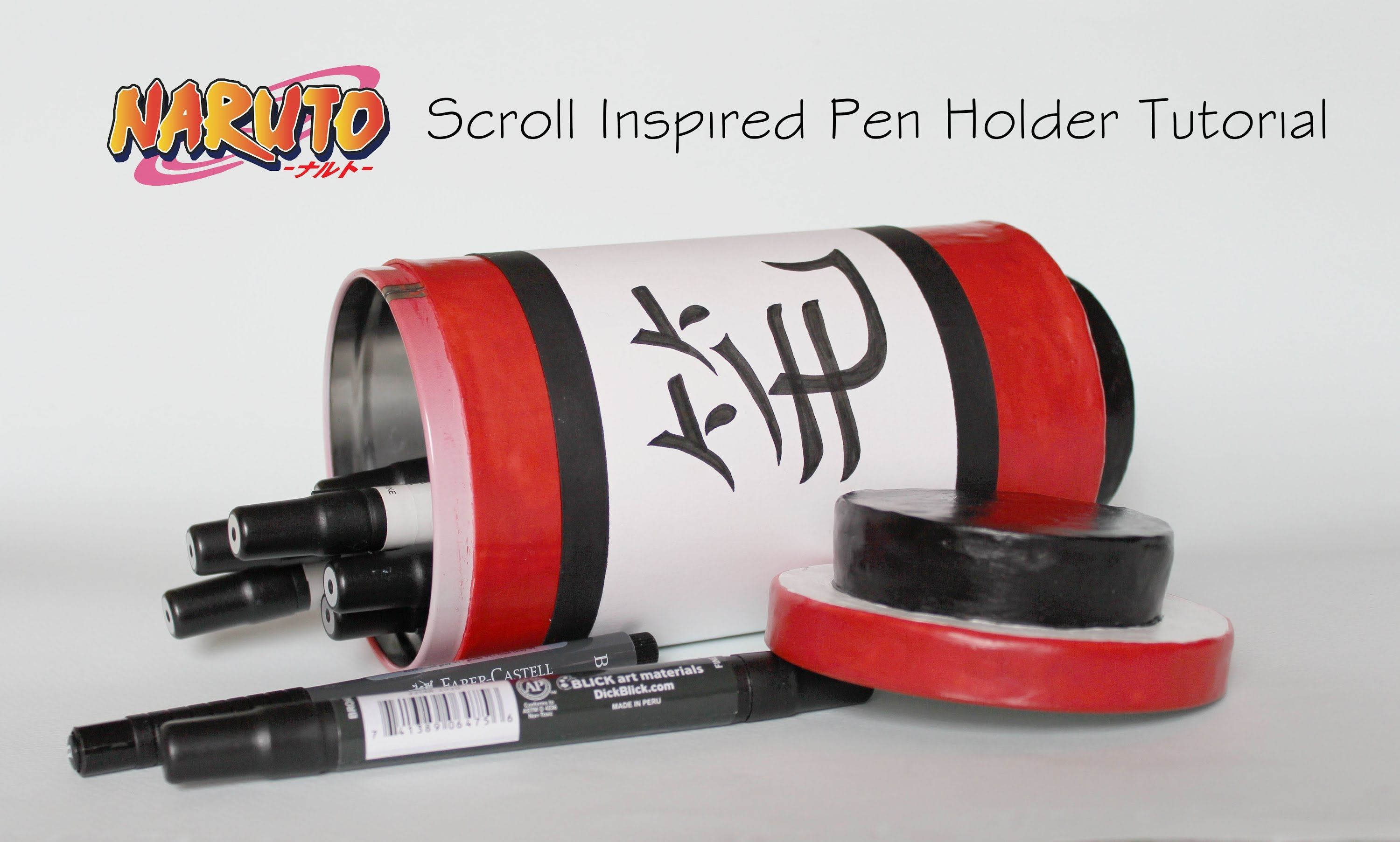 Naruto Scroll Inspired Pen Holder Tutorial Projects To