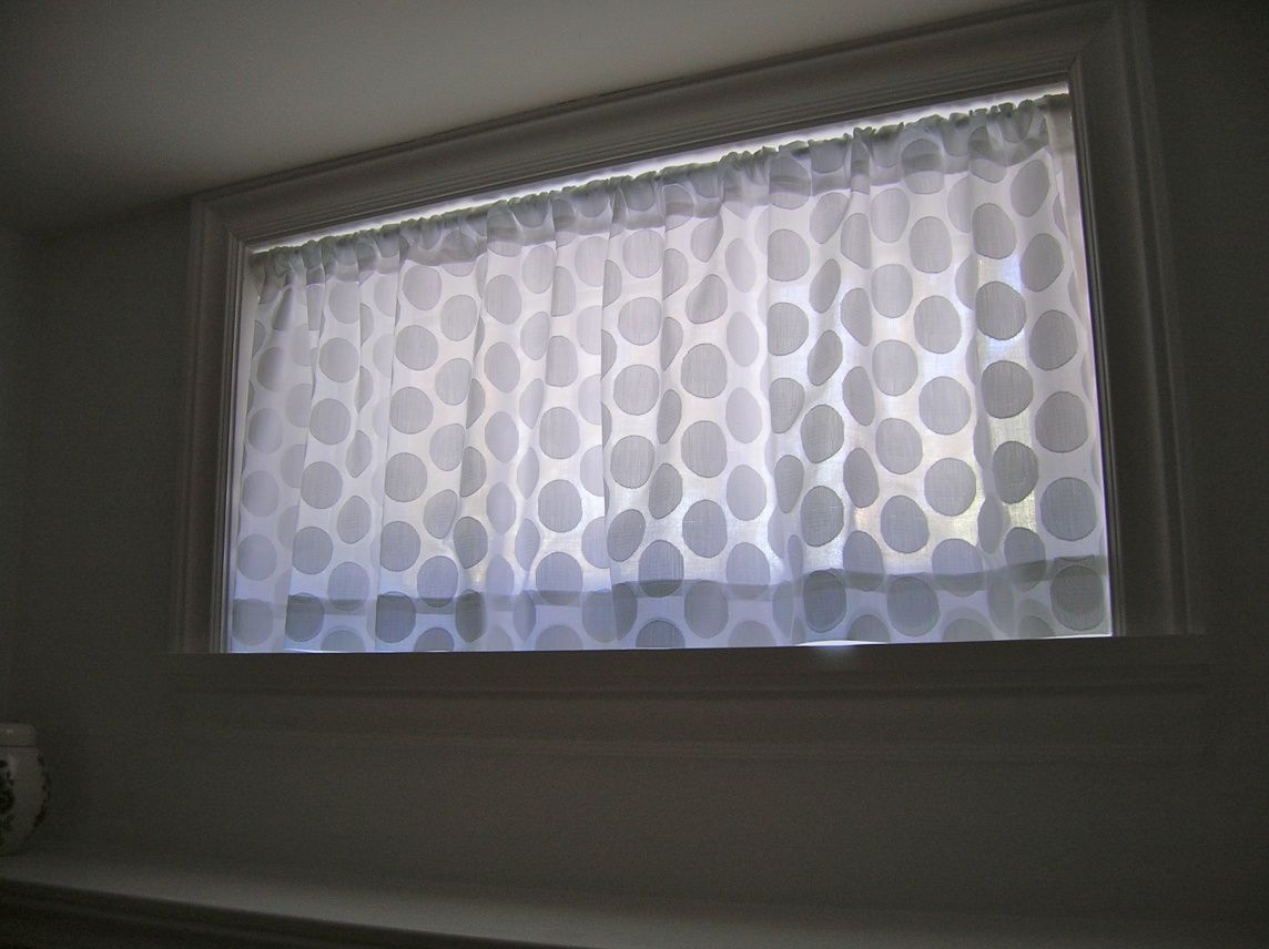 Basement windows! how to sew curtains (tutorial) « movita beaucoup ... for Short Curtains For Basement Windows  545xkb