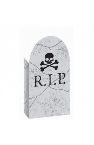 Halloween Gravestone Paper Party Bags - Pack of 12 -Halloween Creepy - decorate halloween bags