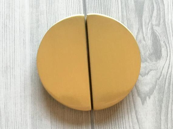 2 1 2 C C Brushed Gold Drawer Pull Half Moon Semicircle Etsy Gold Drawer Pulls Cabinet Door Handles Drawer Pulls
