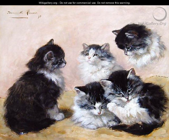 Henriette Ronner-Knip Paintings Cats are soooo cute!