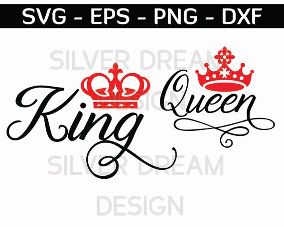 King And Queen Font By Weknow: King And Queen Svg Crown Svg Royal Svg Crown By