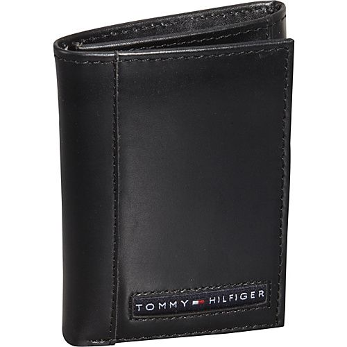 b27190fe2 Tommy Hilfiger Wallets Cambridge Trifold Wallet Black - Tommy Hilfiger  Wallets Mens Wallets from Yvonne s  shoes blog