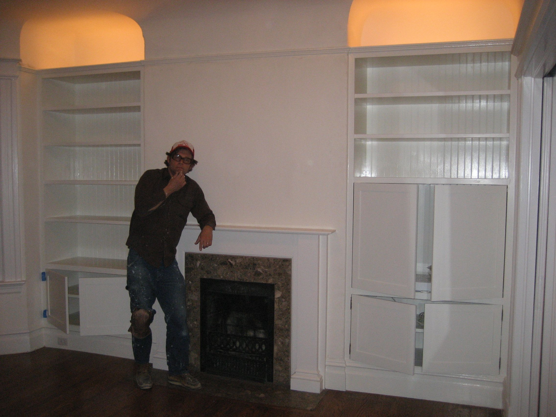 built in shelves with fireplace shelves fire places and shelving
