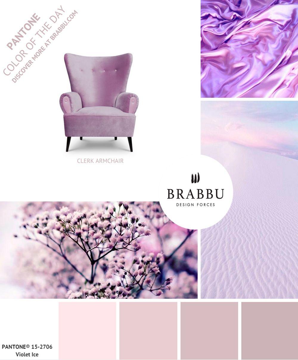 trouvez de l 39 inspiration avec la couleur pantone du jour violet ice projets de d coration d. Black Bedroom Furniture Sets. Home Design Ideas