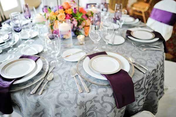 Eggplant And Gray Wedding Color Google Search
