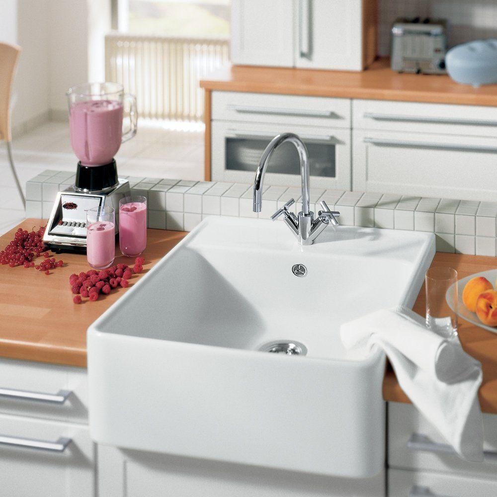 Villeroy boch butler 60 1 0 bowl white ceramic kitchen sink waste kitchen pinterest - Butler kitchen sinks ...