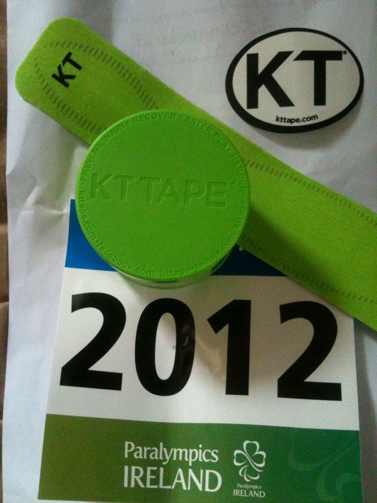 Kt tape pro for the ireland paralympics kinesiology
