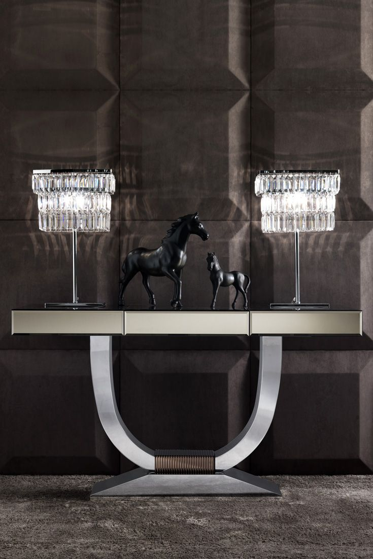 Italian Bronze Mirrored Glass Console | Bronze Mirror, Mirror Furniture And  Modern Interiors