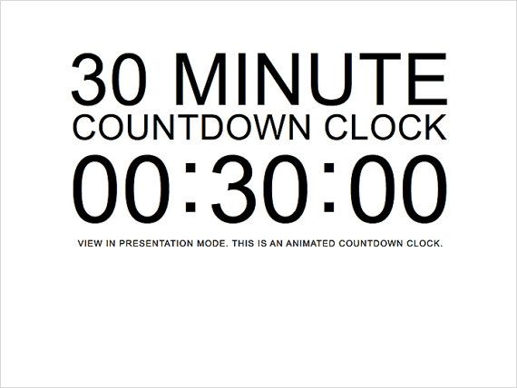 countdown clock for powerpoint presentation