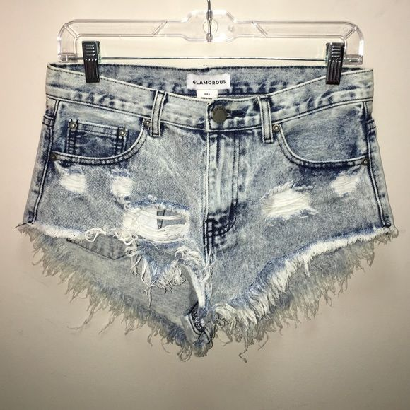 Glamorous high waisted shorts Never worn, perfect condition. Urban Outfitters Shorts Jean Shorts
