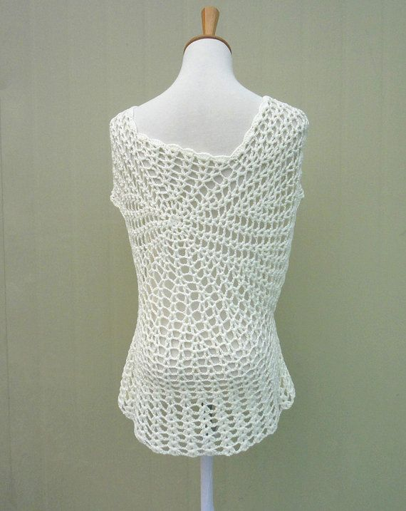 Blusa Floral de Boho Crochet manga corta Perfecto como una playa ...