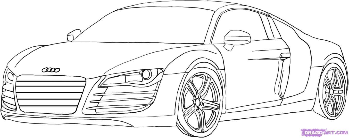 Ausmalbilder Autos Audi R8 :  Audi R8 Pinterest