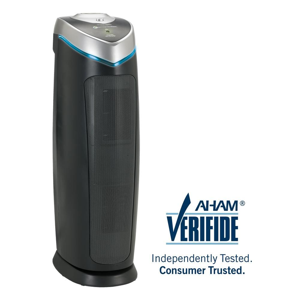 Germguardian 4 In 1 Air Purifier With Hepa Filter Uvc Sanitizer And Odor Reduction 22 In Tower Ac4825dlx The Home Depot Filter Air Purifier Hepa Air Purifier Hepa Filter Air Purifier
