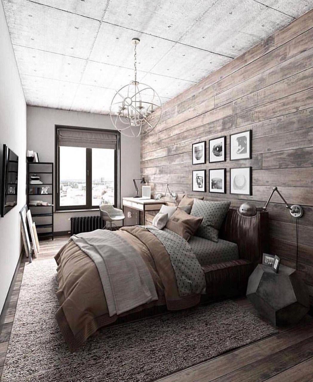 Home-office-schlafzimmer-design-ideen bedroom inspiration  wood wall  goalz  pinterest  bedroom