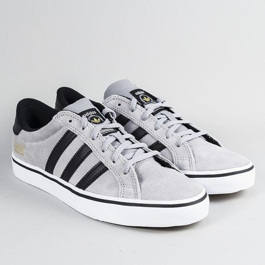a85efcfe44af1e adidas Skateboarding Americana Vin Low Trainers - Mid Grey Black Run White