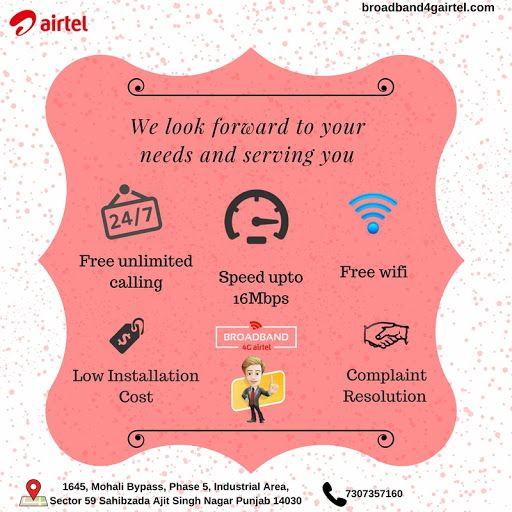 Get high speed unlimited broadband plans in Mohali at very