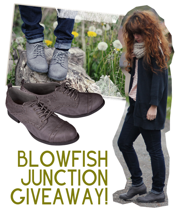 Ignore the Giveaway part of the picture... Blowfish Junction are the missing piece of my wardrobe. I've never got a change to buy because they were Fall 2011 web store only and they shipped only to Usa and Canada. It was a shame and they are out of catalogue now. I need to find very similar ones.