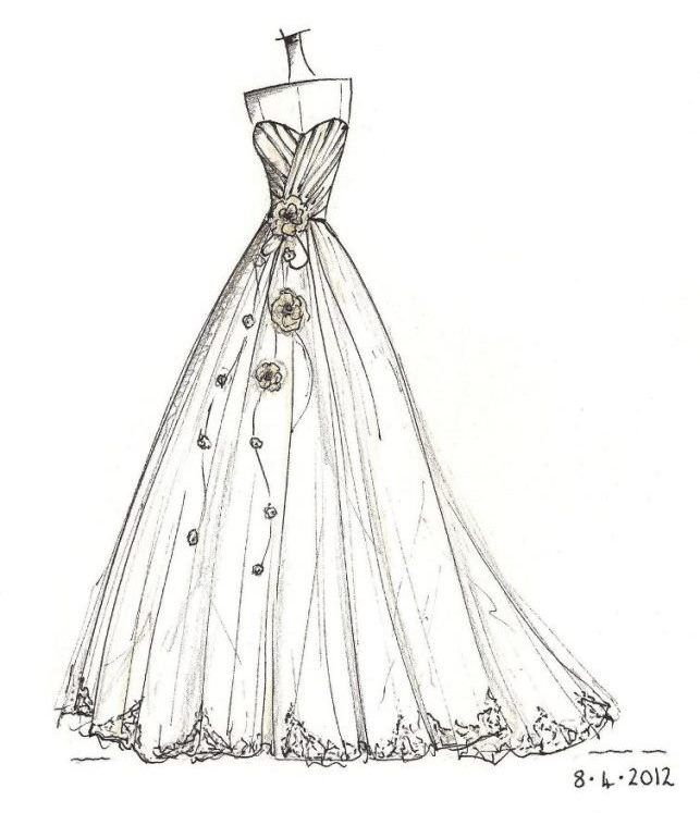 mermaid wedding dress www.annech.co.uk   ELBİSE ÇİZİMLERİ ...
