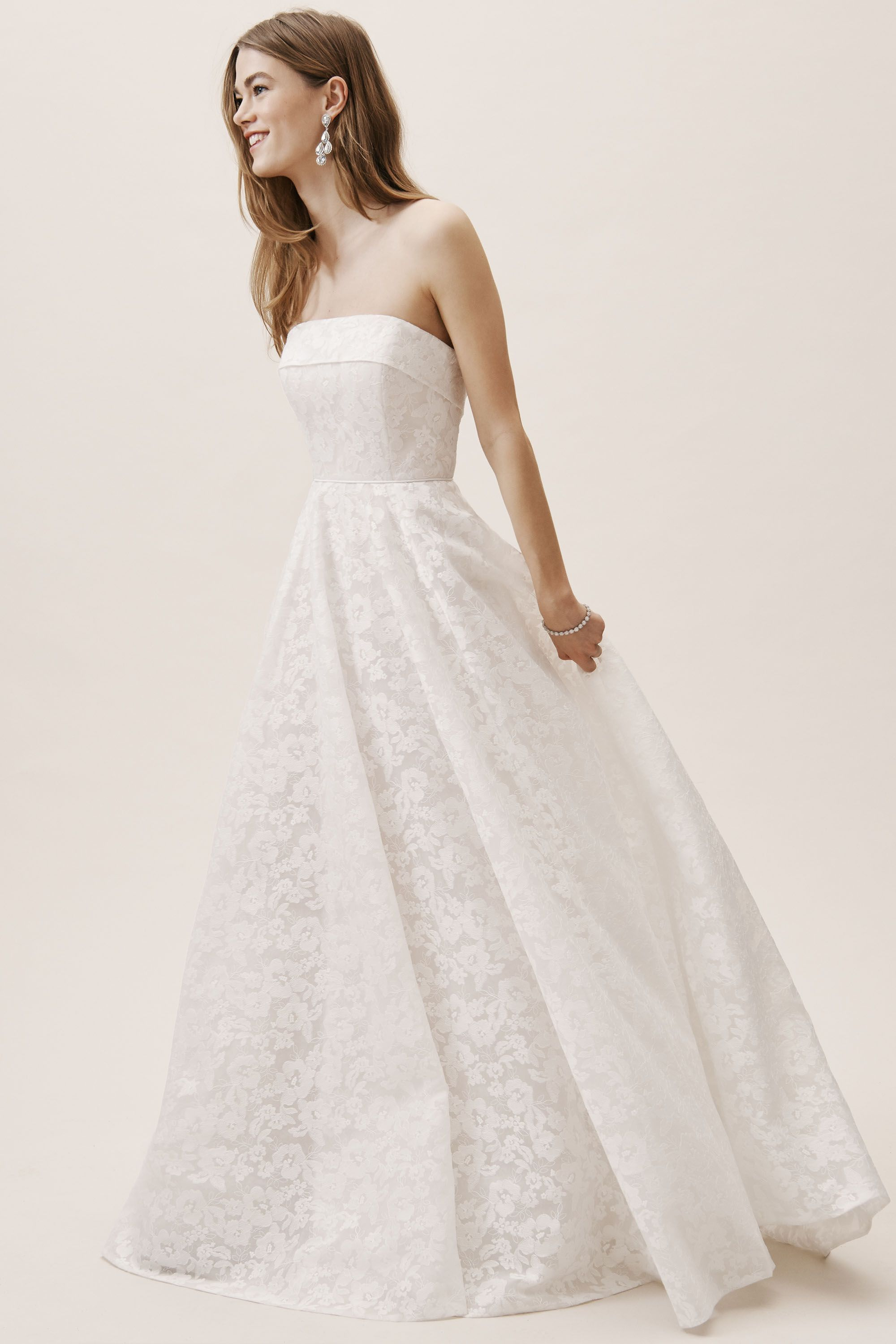 Maine Gown White Blush In Bride Bhldn Sponsored White Gown