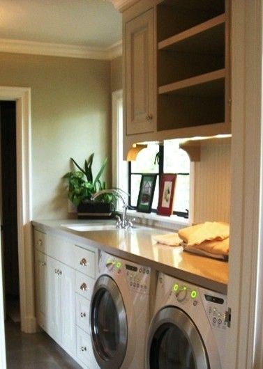 Laundry Room Under Counter Washer Dryer Design, Pictures, Remodel, Decor  And Ideas