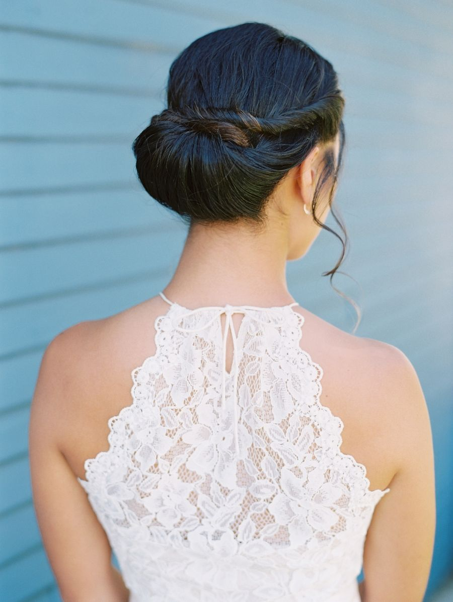 The Recipe For Romance Is White Lace Flowers Bridal Hair