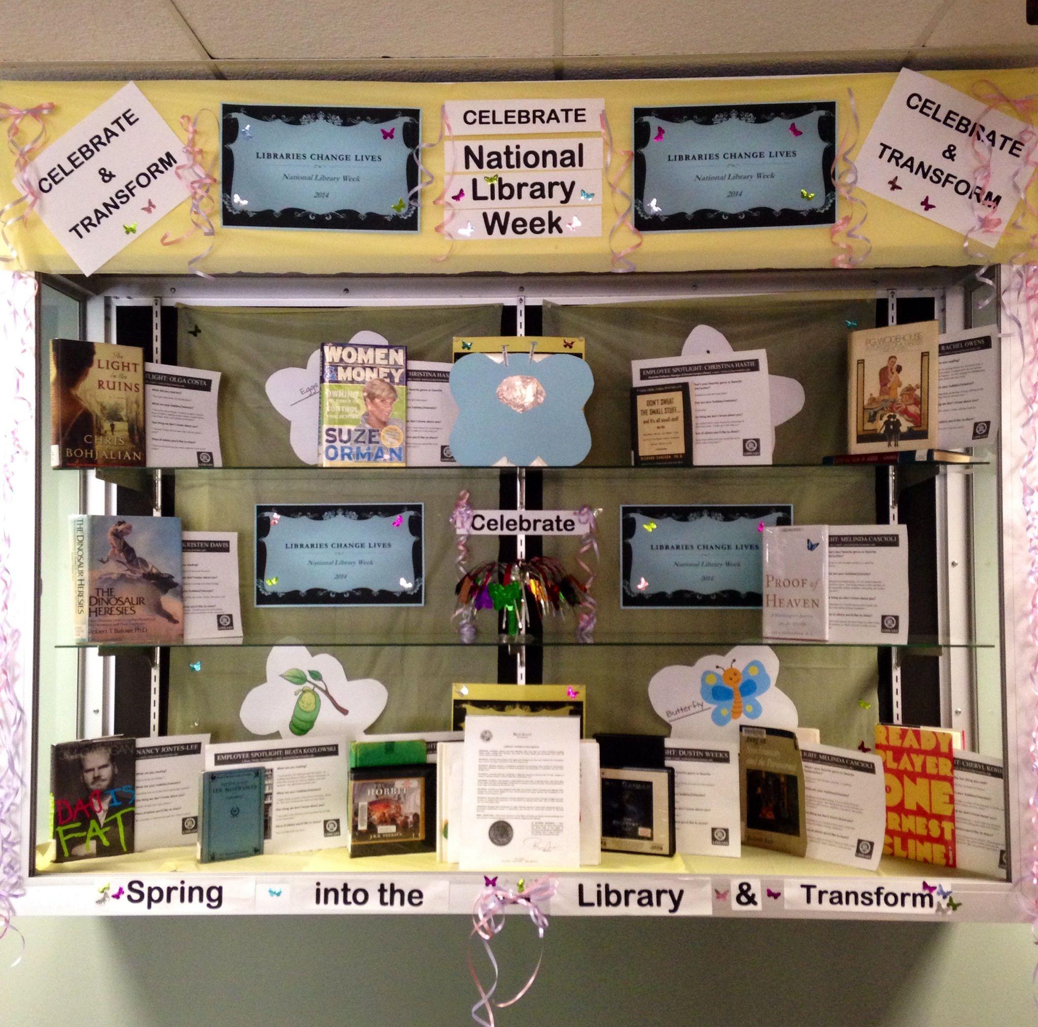 Display Ideas Re: April's 2014 National Library Week Display Case.