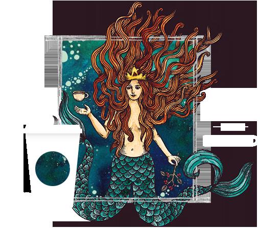 Starbucks Anniversary Blend 2015 Mermaids Starbucks Art