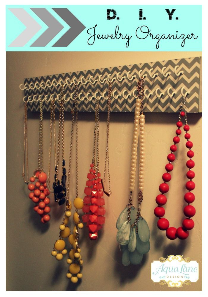 Make this stylish jewelry organizer with just a few items and it