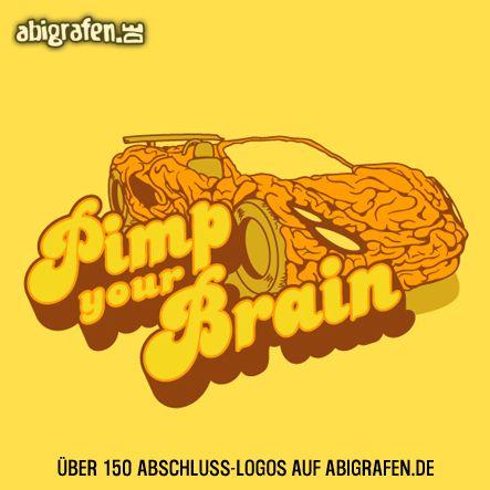 #Abschlusslogo für #Abishirt #Abizeitung #Abibuch & Co: pimp your brain