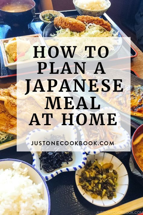 Interested in Japanese home cooking? Learn how to make a Japanese Meal at home! Known as Ichiju Sansai, the concept includes One Soup Three Sides for a meal. We explain how this can be done at home. #japanesehomecooking #japanesefood #japaneseculture | Easy Japanese Recipes at JustOneCookbook.com #foodrecipesmeals