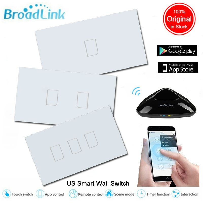 Broadlink tc2 smart home us standard 1 2 3 gang wireless wall light broadlink tc2 smart home us standard 1 2 3 gang wireless wall light control wifi switch 220vtouch panel switchhome automation mozeypictures Choice Image