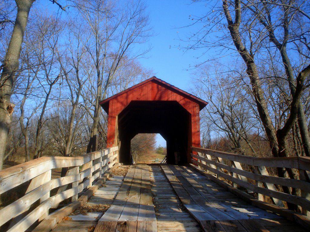 Old Wooden Covered Bridges   Sugar Creek Covered Bridge