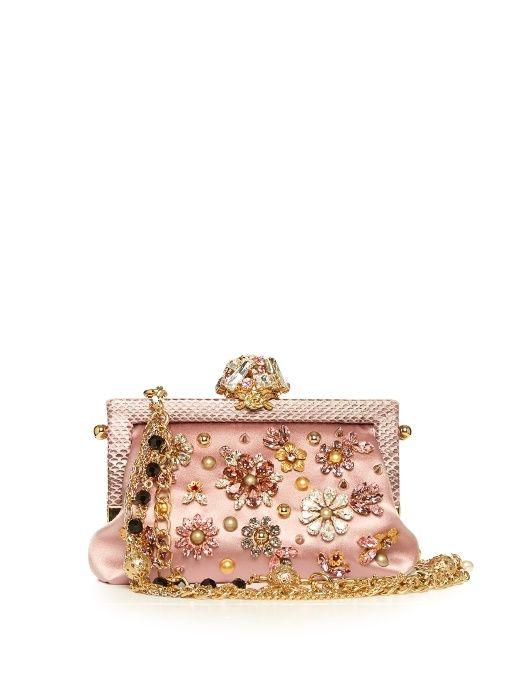 Dolce   Gabbana Vanda crystal-embellished satin bag  f9cc9f2b5b7