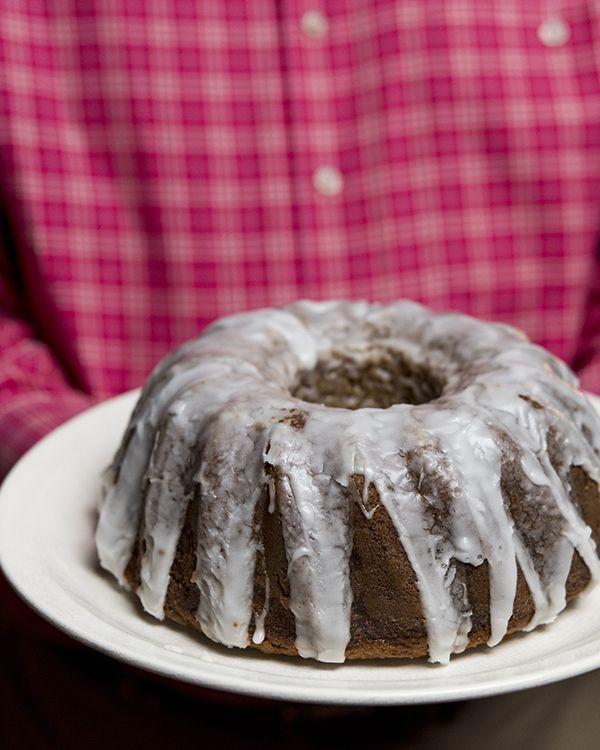 Glazed Applesauce Spice Cake