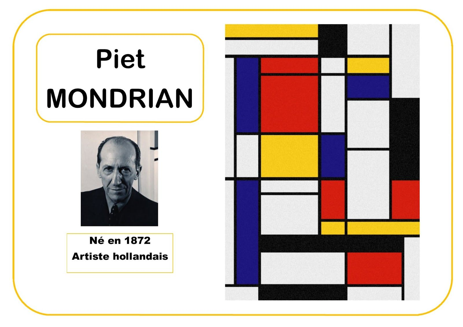 piet mondrian portrait d 39 artiste en ms peintre artiste pinterest mondrian. Black Bedroom Furniture Sets. Home Design Ideas