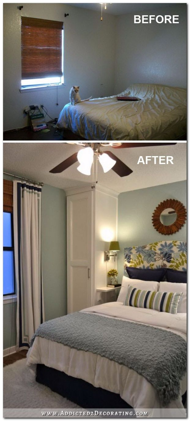50 Ideas To Decorate Small Apartment On A Budget The Urban Interior Small Master Bedroom Remodel Bedroom Bedroom Makeover