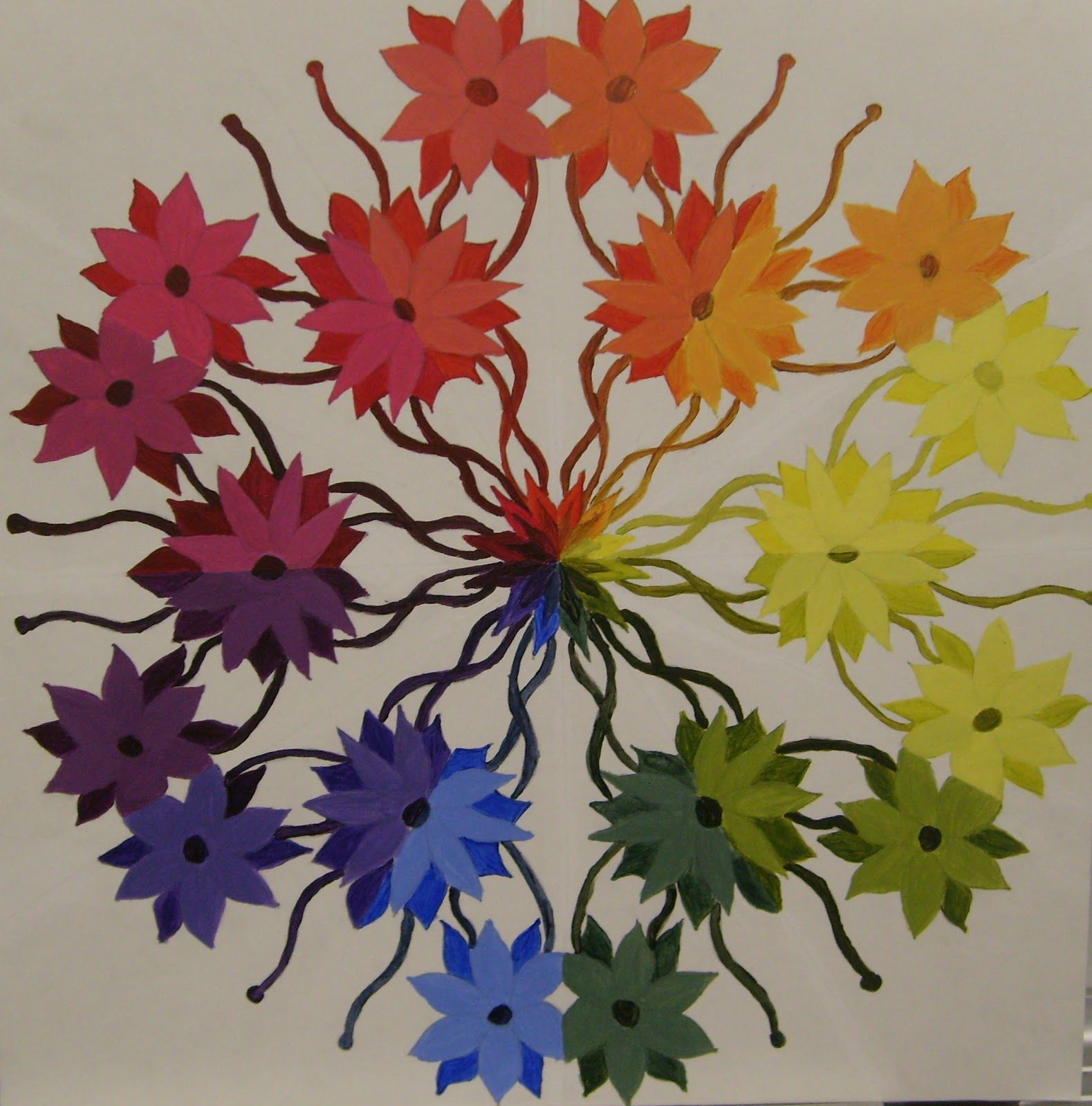 Color circle art publishing - Color Wheel Projects For High School Splatters And Smudges Color